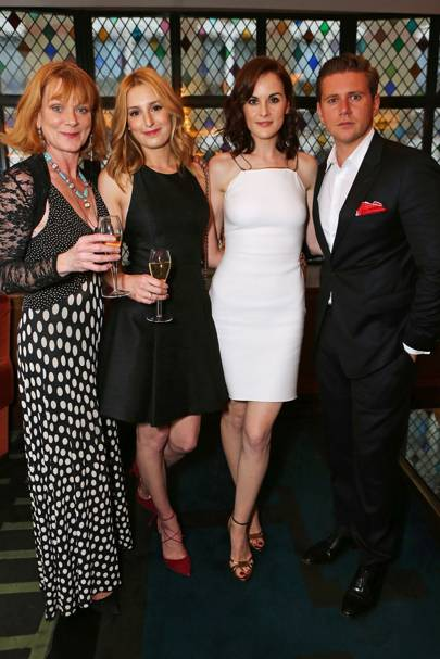 Samantha Bond, Laura Carmichael, Michelle Dockery and Allen Leech