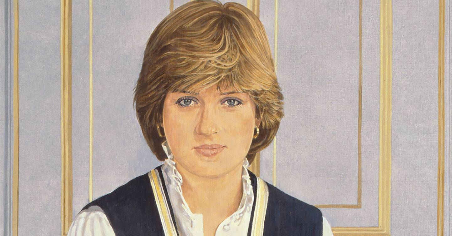 The forgotten story of when Princess Diana's first royal portrait was attacked