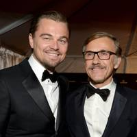 Leonardo DiCaprio and Christoph Waltz