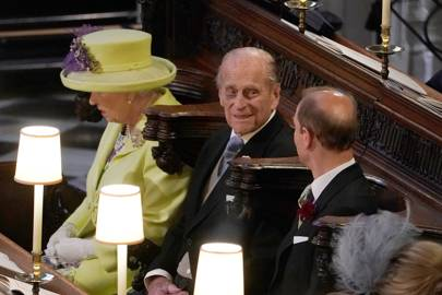The Queen, Prince Philip and Prince Edward attend Prince Harry and the Duchess of Sussex's wedding, 2018