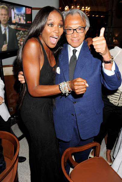 Naomi Campbell and Sir David Tang, 2012