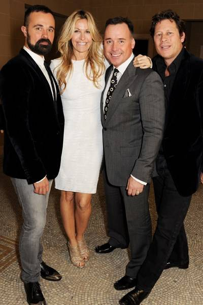 Evgeny Lebedev, Melissa Odabash, David Furnish and Arpad Busson