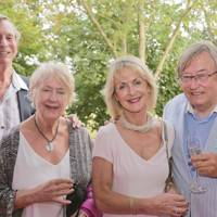 John Glasswell, Patricia Glasswell, Penelope, Viscountess Cobham and David Mellor