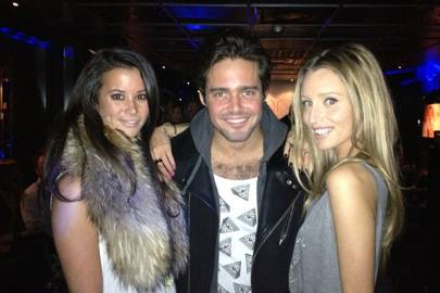 Stephanie Smart, Spencer Matthews and Alexandra Bayley