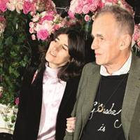 Bella Freud and James Fox