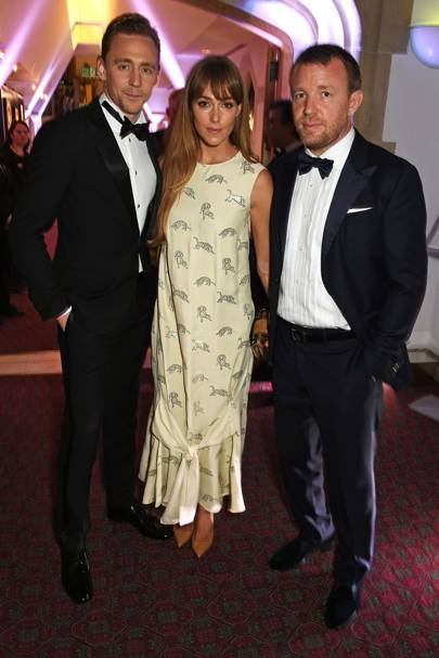 Tom Hiddleston, Jacqui Ainsley and Guy Ritchie