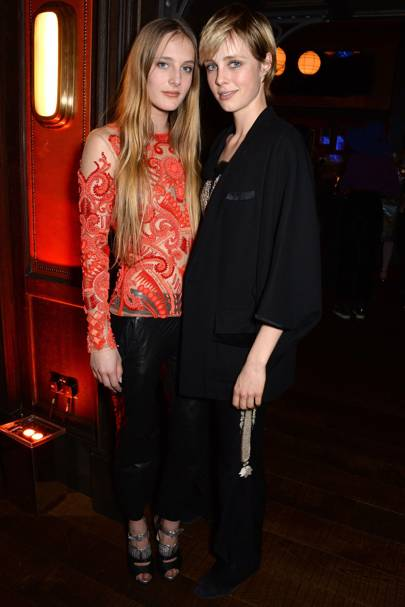 Olympia Campbell and Edie Campbell