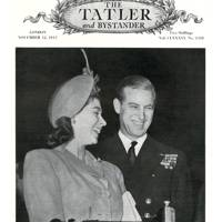 Princess Elizabeth and Prince Philip on the front cover of Tatler, 1947