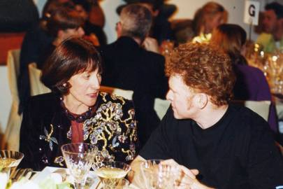 Mrs David Blackburn and Mick Hucknall