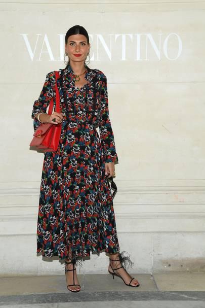 Giovanna Battaglia attends the Valentino show