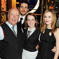 Lord Fellowes, Robert James Collier, Sophie McShera and Laura Carmichael
