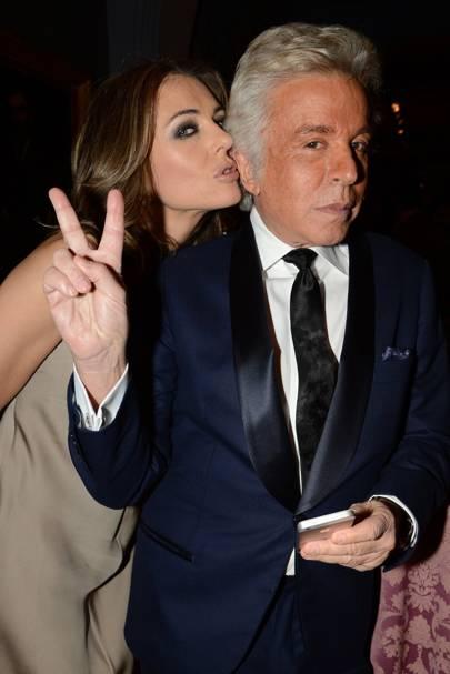Elizabeth Hurley and Giancarlo Giammetti