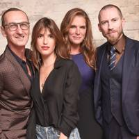 Bruno Frisoni, Jeanne Damas, Brooke Shields and Justin O'Shea
