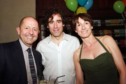 Piers Butler, Stephen Mangan and Lizzie Butler