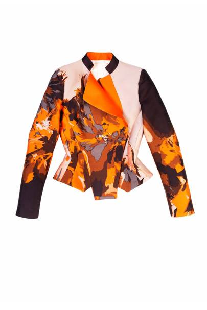 Silk jacket, £1,800, by Antonio Berardi