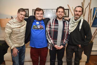 Gus Van Sant, Jack Black, Jonah Hill and Joaquin Phoenix