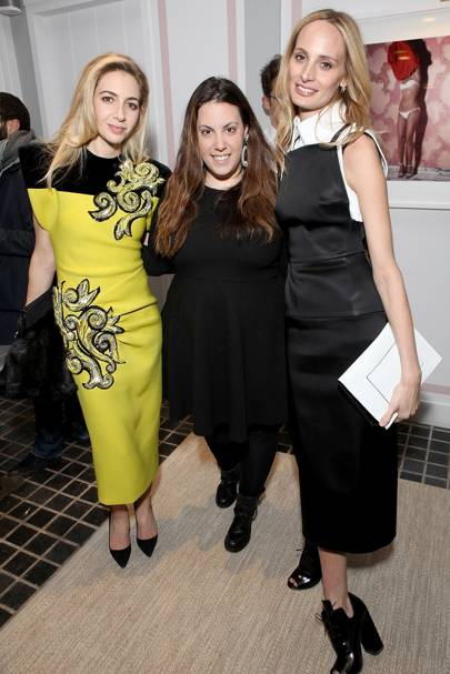 Sabine Ghanem, Mary Katrantzou and Lauren Santo Domingo
