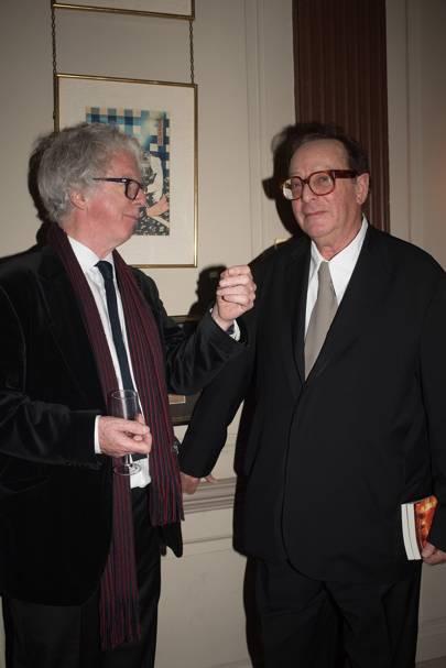 Sir Peter Stothard and Lord Saatchi