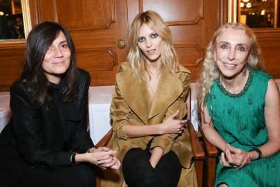 Emmanuelle Alt, Anja Rubik and Franca Sozzani