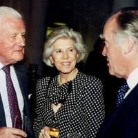 Viscount Norwich, Mrs Freddie Nicolle and Freddie Nicolle