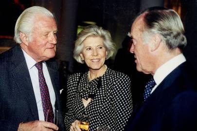 Viscount Norwich, Mrs Freddie Nicolle and Freddie Nicolle
