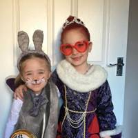 Eva Tappenden as White Rabbit and Amelie Tappenden as Queen of Hearts