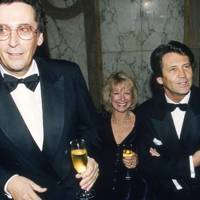 Robert Powell, Mrs Robert Powell and Melvyn Bragg