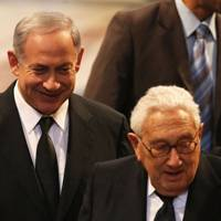 Benjamin Netanyahu and Henry Kissinger