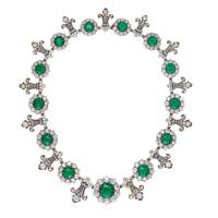 Emerald-and-diamond necklace by Tiffany & Co
