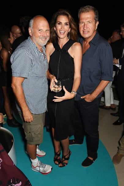 Sam McKnight, Cindy Crawford and Mario Testino