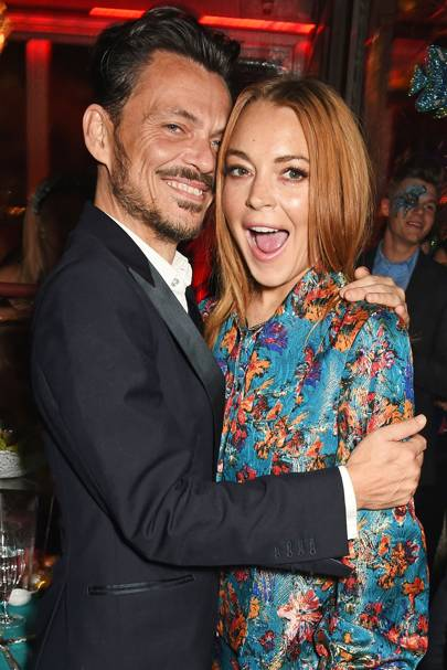Matthew Williamson and Lindsay Lohan