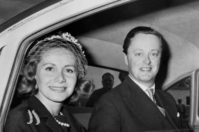 1962: With the second Duchess of Marlborough, Athina Onassis at the wedding of Princess Sophia of Greece to Don Juan Carlos