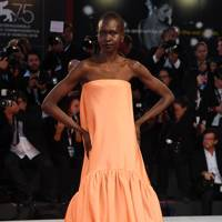 Alek Wek at the Suspiria premiere