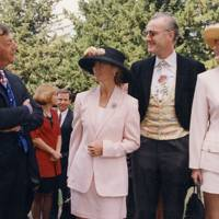 Henry Cecil, Mrs Alec Foster, Alec Foster and Lucia Foster