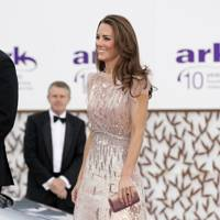 ARK 10th Anniversary Gala Dinner 2011, wearing Jenny Packham