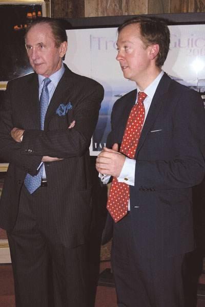 Geoffrey Kent and Geordie Greig
