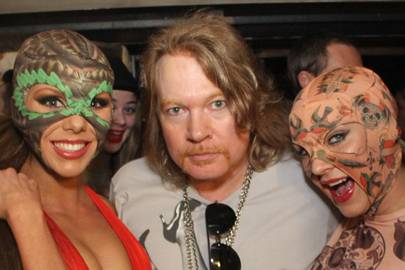 Laura Blair, Axl Rose and Danielle Veal