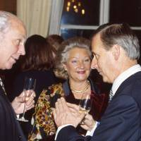 Christopher Hoffman-Frey, Mrs Christopher Hoffman-Frey and His Excellency Sir Michael Burton