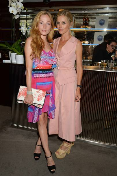 Laura Bailey and Clara Paget
