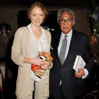 Lily Cole and Sir David Tang, 2013