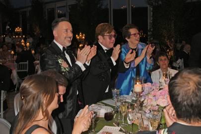 David Furnish, Sir Elton John and Billie Jean King