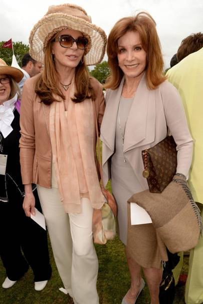 Stefanie Powers and Queen Noor of Jordan