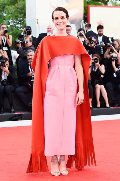 Wearing Valentino at the Venice Film Festival opening ceremony, 2018