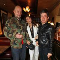 Jake Chapman, Sara Macdonald and Noel Gallagher