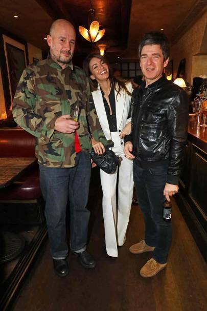 Jake Chapman, Sara Macdonald and Noel Gallagher
