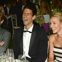Gerard Butler, Novak Djokovic and Jelena Ristic