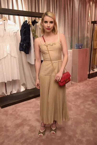 Emma Roberts attends Fendi party