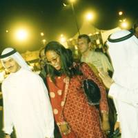 Shabab Lufti, Naomi Campbell and Ahmed Lufti