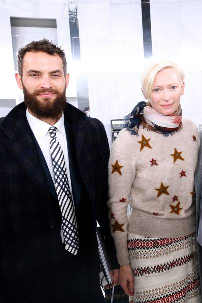 Sandro Kopp and Tilda Swinton