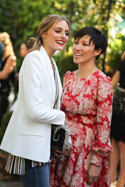 Olivia Palermo and Sandra Choi